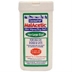 Dermapet Products DermaPet Malacetic Wet Wipe Dry Bath (25 count)