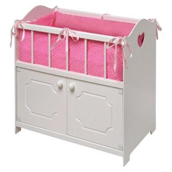 Badger Basket Storage Doll Crib - White