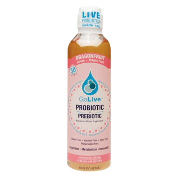 GoLive Probiotic & Prebiotic Drink, Lemon Dragon Fruit, 16 fl oz
