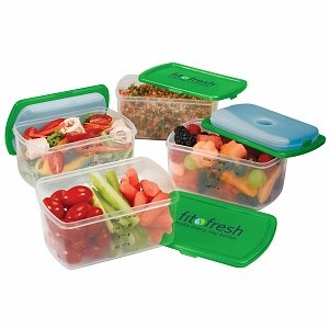 Fit & Fresh Smart Portion 2 C. Chill Container Set