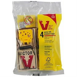 Woodstream-victor M038 4 Count Easy Set Mouse Traps