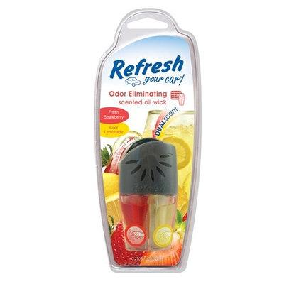 Refresh Your Car Dual Oil Wick, Strawberry/Lemonade