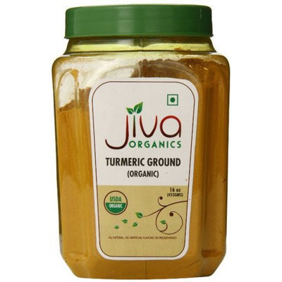 Jiva Organics USDA Organic Turmeric Powder, 1 Pound