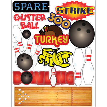 Outdoors & More 121746 Themed Die Cut Assortment-Bowling