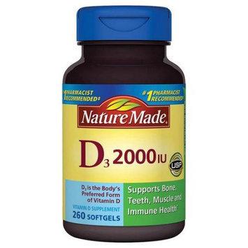 Pharmavite Llc Nature Made Vitamin D3 Dietary Supplement Softgels, 2000 I.U, 260 count