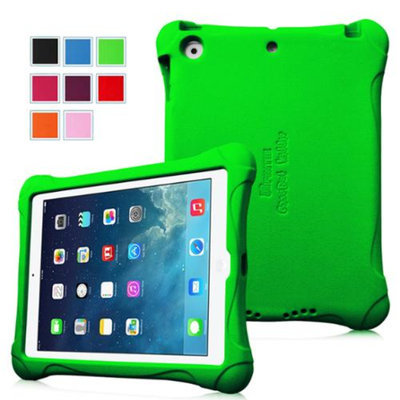 Fintie Kiddie Case - Ultra Light Weight Shock Proof Kids Friendly Cover for iPad Air (iPad 5 5th Generation), Green