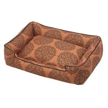 Jax & Bones Premium Cotton Lounge Pet Bed Milan Orange, Size: Small