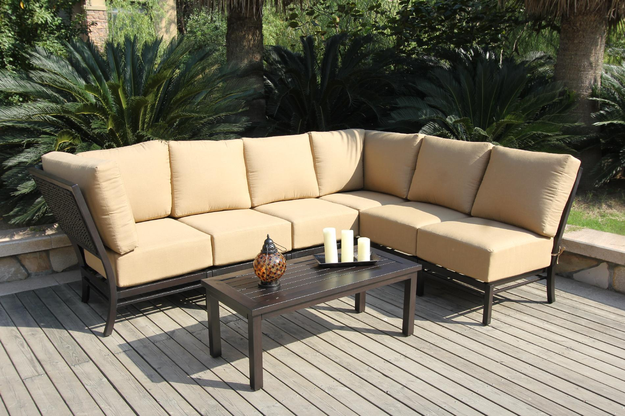 Bellini Monterey 7 Piece Sectional Deep Seating Group with Cushion