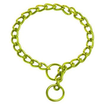 Platinum Pets Coated Chain Training Collar - Corona Lime (22