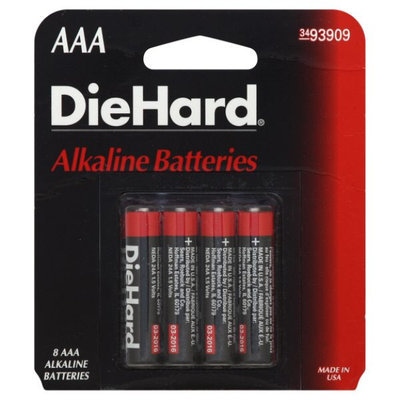 Eveready Battery Company DieHard AAA Alkaline Batteries, 8pk - EVEREADY BATTERY COMPANY