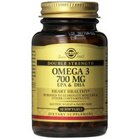 Solgar Double Strength Omega-3 Supplement, 700 mg, 30 Count