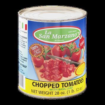 La San Marzano Chopped Tomatoes with Basil Leaf
