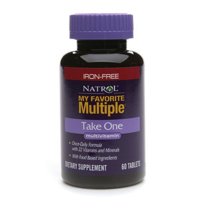 Natrol My Favorite Multiple Multivitamin Tablets Iron Free