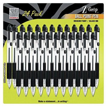 Zebra Z-Grip Ballpoint Pen Medium - Black Ink (24 Per Pack)