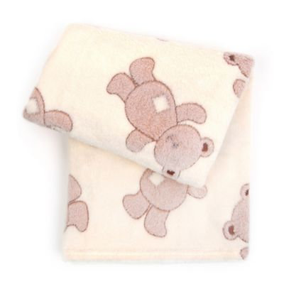 Tadpoles 3D Bears Jacquard Baby Blanket in Brown