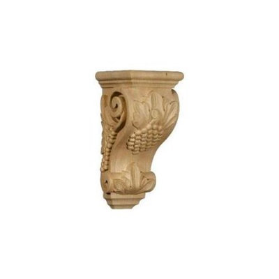 Ekena Millwork 4.5-in x 10-in Red Oak Grape Wood Corbel