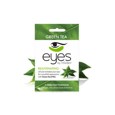 ToGoSpa Green Tea - Rejuvenating Eye Pads 3 piece