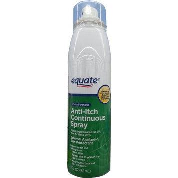 Equate Extra Strength Anti-Itch 3oz Continuous Spray Compare to Extra Strength Benadryl Spray