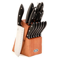 Gibsonusa Oster Huxford 14-piece Stainless Steel Knife Block Set