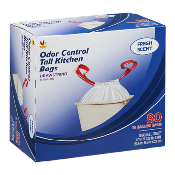 Ahold Odor Control Tall Kitchen Trash Bags