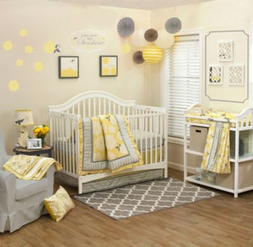 Farallon Brands Farallon The Peanut Shell Stella 4-Piece Crib Bedding Set
