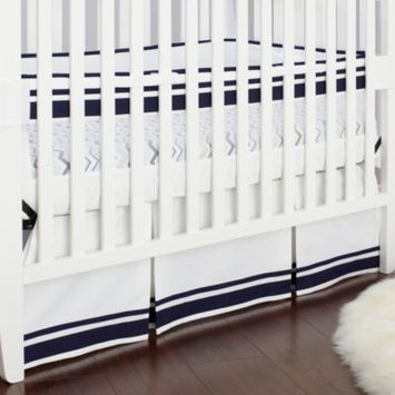Triboro Just Born Fresh Air Crib Liner- Navy