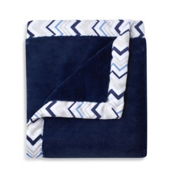 Triboro Just Born Mix & Match Safe Sleep Cuddle Plush Blanket in Navy