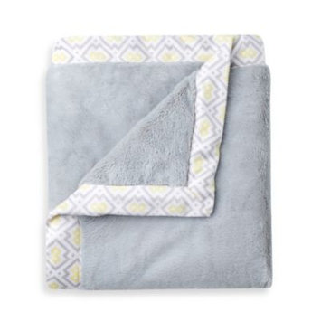 Triboro Just Born Mix & Match Safe Sleep Cuddle Plush Blanket in Grey
