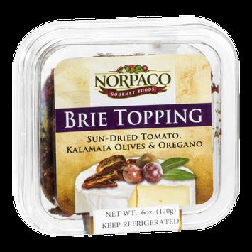 Norpaco Brie Topping Sun-Dried Tomato, Kalamata Olives & Oregano