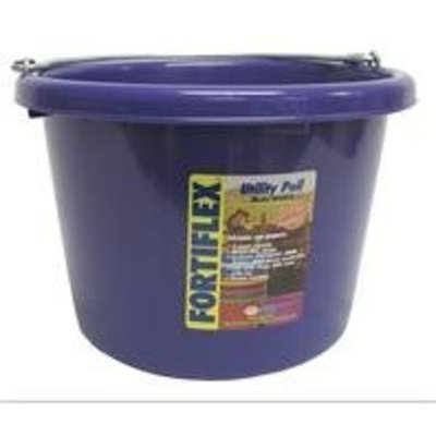 Fortiflex Multi-Purpose Storage Bucket for Dogs/Cats and Horses, 74-Quart, Vivid Violet