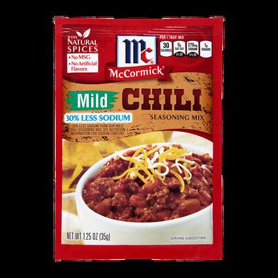 McCormick® Mild Chili Seasoning Mix 30% Less Sodium