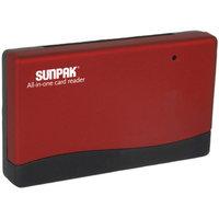 Sunpak ALLIN1-CR-RD All-In-One Card Reader, Red
