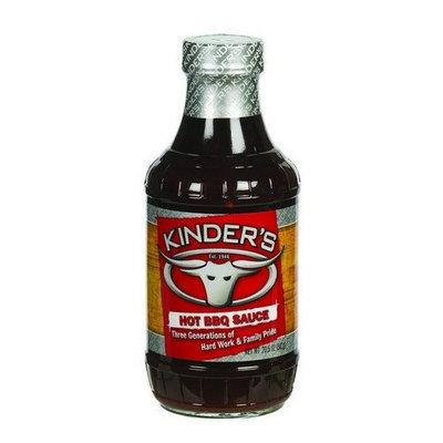 PK KINDER CO INC Kinders Kcmhb20 Hot Bbq Sauce, 20.5 Oz. (Pack Of 12)