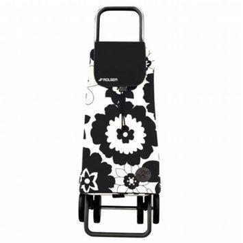 Rolser Logic DOS +2 Pack Flor Shopping Trolley, Blanco/Negro