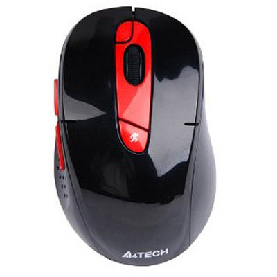 AZEND GROUP CORP Azio G11-570HX-4 A4TECH 2.4G Rechargeable Wireless USB Mouse, Red