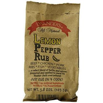 Lysander's Lemon Pepper Rub, 3.8-Ounce (Pack of 6)