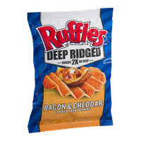 Ruffles Deep Ridged Potato Chips Bacon & Cheddar Loaded Potato Skins