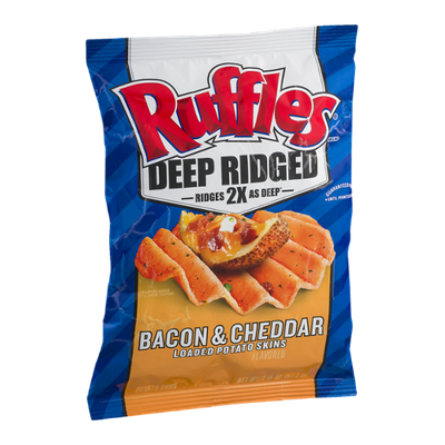 Ruffles® Deep Ridged Potato Chips Bacon & Cheddar Loaded Potato Skins