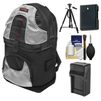 Precision Design PD-BP2 Sling Digital SLR Camera Backpack Case with EN-EL14 Battery & Charger + Tripod for Nikon D3100, D3200, D5100, D5200, D5300