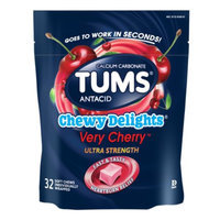 Tums Chewy Delights Cherry Calcium Soft Chews - 32 Count