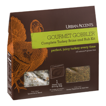 Urban Accents Gourmet Gobbler Complete Turkey Brine and Rub Kit