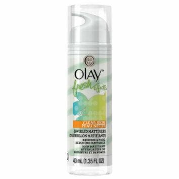 Olay Fresh Effects Clear Skin Swirled Mattifier! Redness and Pore Reducing Mattifier, Citrus/Mint, 1.35 fl oz