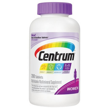Centrum Women Under 50, Multivitamin, Tablets, 200 ea