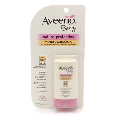 Aveeno Baby Natural Protection Mineral Block Face Stick