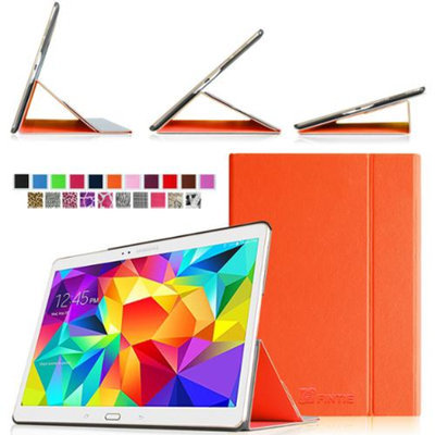 Fintie Ultra Slim Light Weight Stand Supports Three Viewing Angles Case for Samsung Galaxy Tab S 10.5 Tablet, Orange