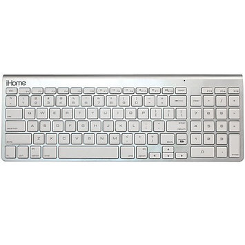 iHome IMAC-K130 Wireless Bluetooth Keyboard For Macs, Silver