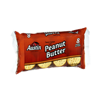 Austin Toasty Crackers with Peanut Butter- 8 PK