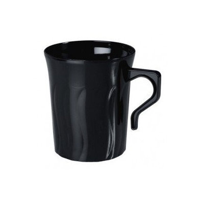 Fineline Settings 208-BK Flairware 8 oz Black Coffee Mug