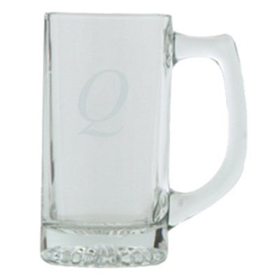 T&C Innovators Block Monogram Beer Mug Set of 4 - Q