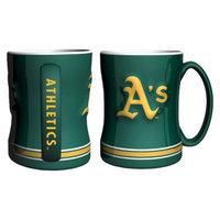 Boelter Brands MLB Athletics Set of 2 Relief Coffee Mug - 14oz